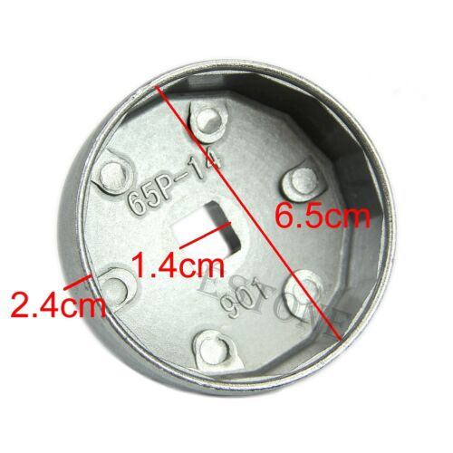 1//2 Square Drive 65mm 14 Flutes End Cap Oil Filter Wrench Auto Tool For Toyota