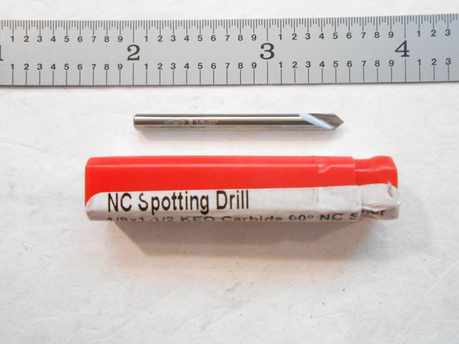 TiN Carbide Spotting Drill Bit 3//8 90/°