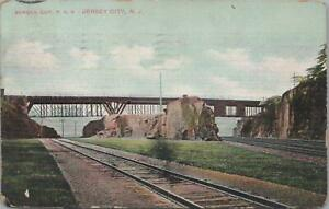 Postcard-Railroad-Bergen-Cut-PRR-Jersey-City-NJ