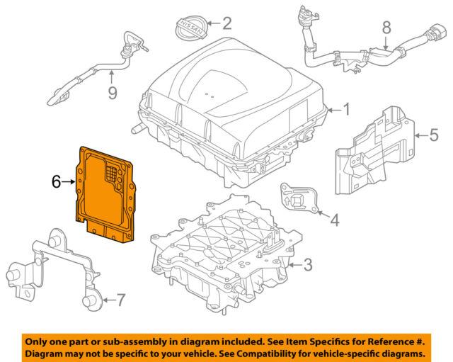 15 Nissan Leaf Engine Motor Control Module Unit 23740 9rb0a on