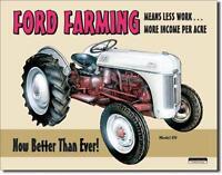 Ford Farming Typ 8N Traktor USA Nostalgie Metall Schild