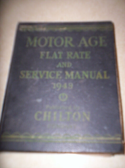 1948 Motor Age Flat Rate And Service Manual Book By