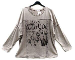 Shirt Tunique Xl 48 Lagenlook Neu Tunika Moda 50 Italy Tunic ICnw4PXq