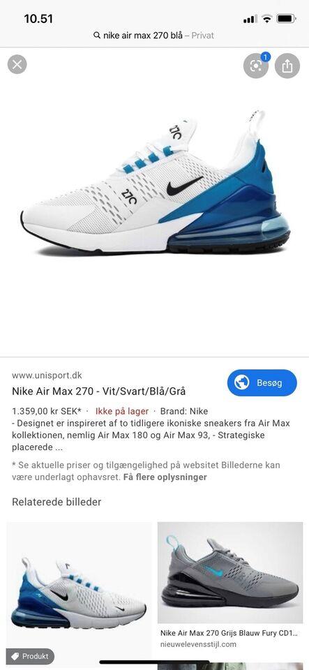 Sneakers, str. 41, Nike air max 270 – dba.dk – Køb og Salg