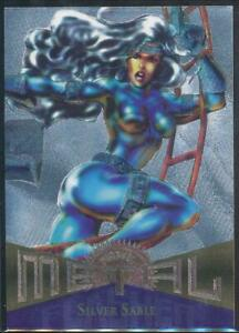 1995-Marvel-Metal-Silver-Flasher-Trading-Card-40-Silver-Sable