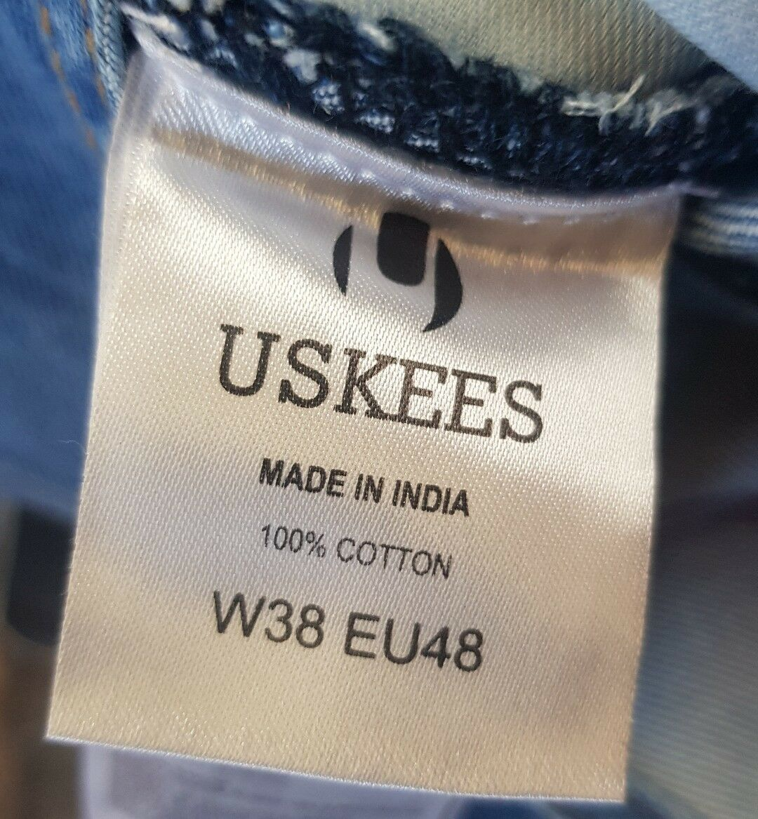 C  USKEES Stevie Super Loose Fit Fit Fit Mens Dungarees - Faded Indigo Eu48 6b389b