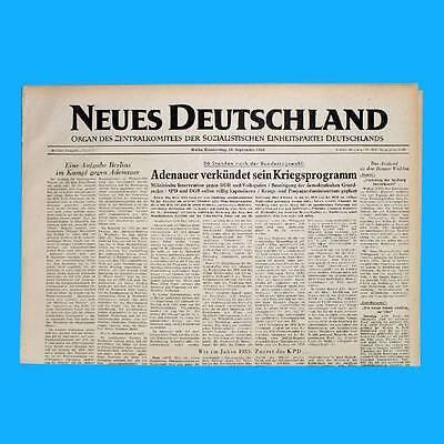 Ddr Neues Deutschland November 1954 Geburtstag Hochzeit 65. 66. 67. 68. 69. Pb