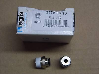 Set X2:adapter Pneumatisch Rohr Gewinde Gerade Legree 31750613 Push-in 20 Bars Finely Processed Agrar, Forst & Kommune