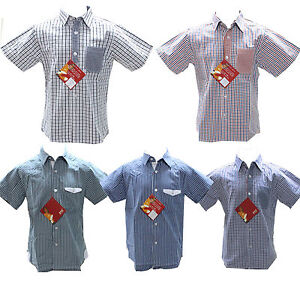 Boys-Kids-Short-Sleeve-Casual-Shirt-Cotton-Smart