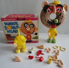 RARE Dunkie Donut Head w/ Box Many Parts Mr. Potato Head Family Dunkin Donuts