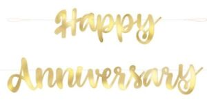 6FT-GOLD-HAPPY-ANNIVERSARY-BANNER-50-YEARS-PARTY-50th-GOLDEN-WEDDING-DECORATION