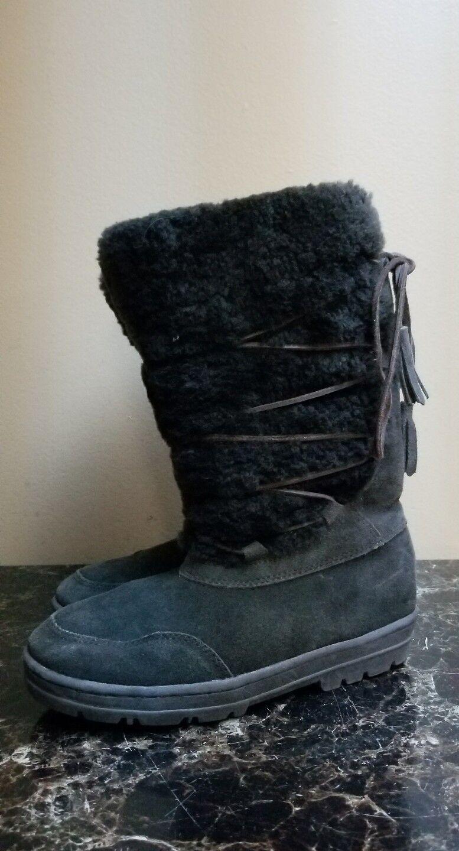 J CREW femme doublé rason Hiver bottes de neige avec Tassel