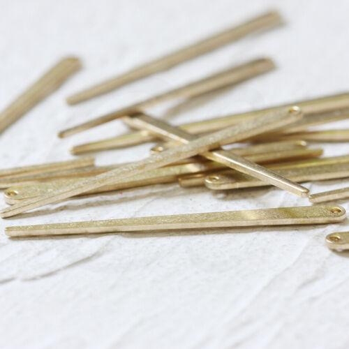 Charm 6 Pieces Raw Brass Spike 4465C Pin 50x4mm