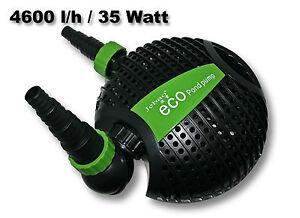 Jebao 4600l h 35w salus eco pompa per laghetto for Filtro x laghetto