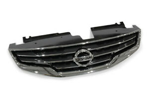 2010-2012-Nissan-Altima-Front-Bumper-Chrome-Grille-Grill-Shell-w-Emblem-OEM-NEW