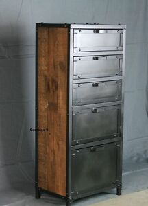 Image Is Loading Vintage Industrial Lingerie Chest Dresser Drawers Reclaimed  Wood