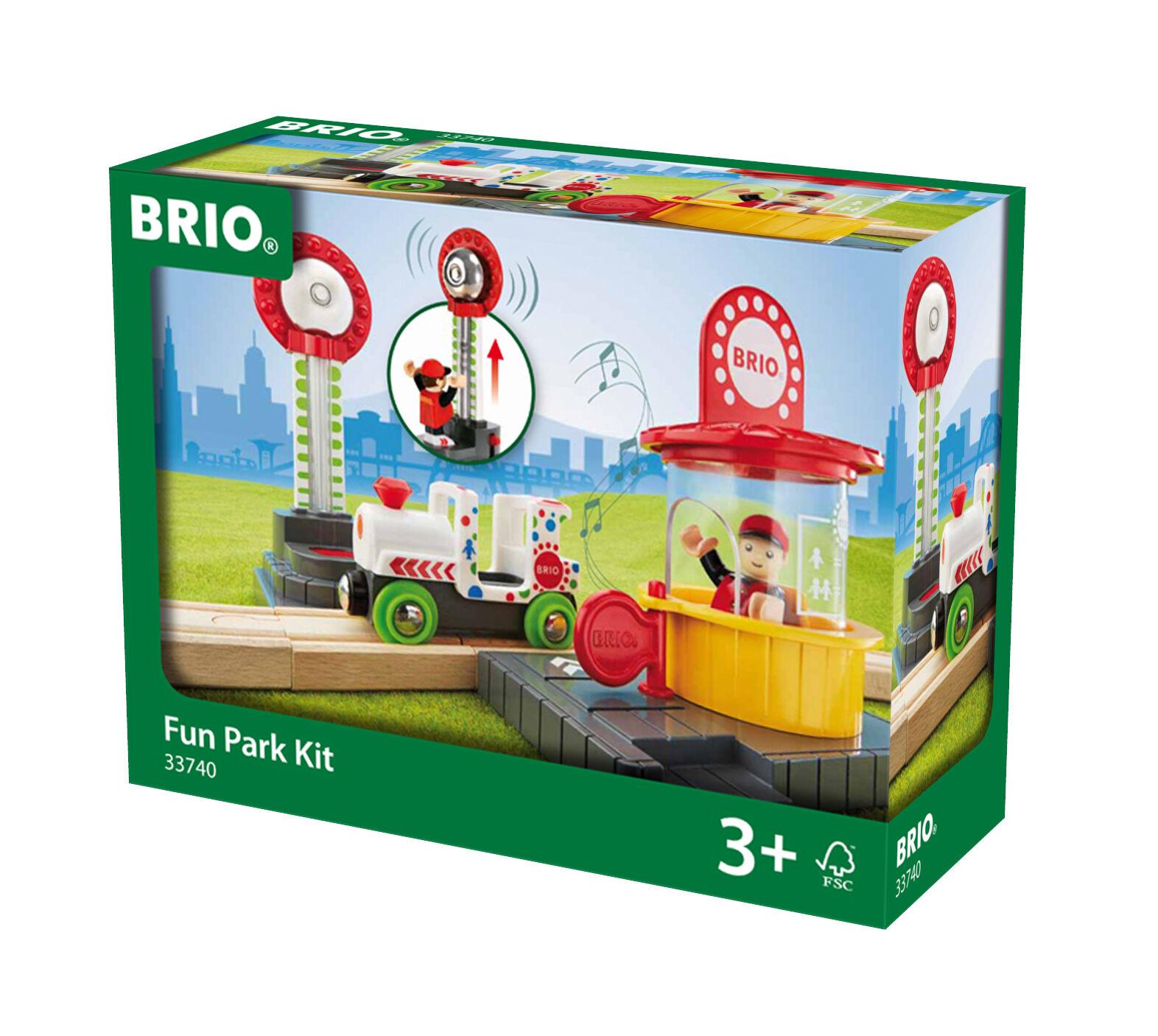 Wooden Railway Fun-Park Play Set Brio