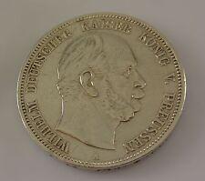 5 Mark Silber Silbermünze / Wilhelm Deutscher Kaiser König V. Preussen / 1876 A
