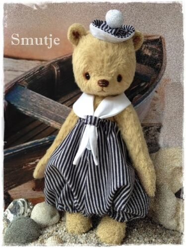 Mohair/Bear Pattern, Incl. Outfit,  9 inch