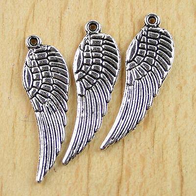 10 Pcs Tibetan silver Tercel Wing Charm beads H0127