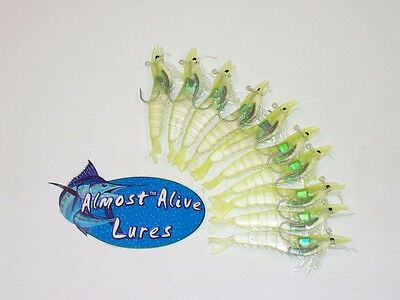 """Almost Alive Lures Artificial Shrimp Soft Plastic 2/"""" Unrigged Prp Flake Bulk"""