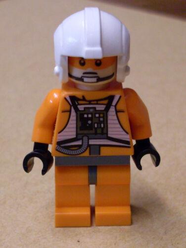 Lego Star Wars Zev Senesca Rebellen Pilot orange weisser Helm Figur Rebellen Neu