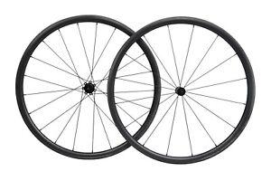 23 30mm Straight pull Full carbon Tubeless Clincher Wheelset for 700C Road Bike