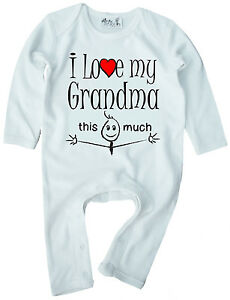 Grandma Baby Clothes Quot I Love My Grandma This Much Quot Baby