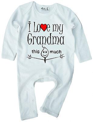 I Love My Crazy Grandma Soft Baby One Piece