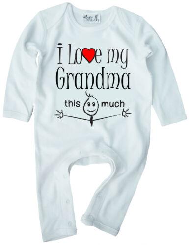 """Grandma ropa de bebé /""""me encanta mi abuela esta cantidad/"""" Baby Romper Suit abuela"""