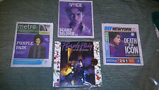 PRINCE Singer LOT: 1 PRINCE Purple Rain RTI HQ-180 Gram Vinyl LP Record +3 Newsp
