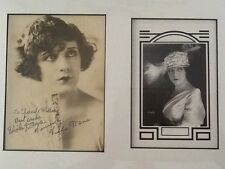 Viola Dana Signed Autograph Photo Matted !!!      Silent Film Actress