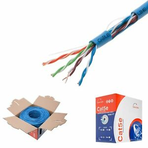 Magnificent 1000Ft Cat5E Solid Wire Bulk Ethernet Network Lan Cable Rj45 Blue Ebay Wiring 101 Capemaxxcnl