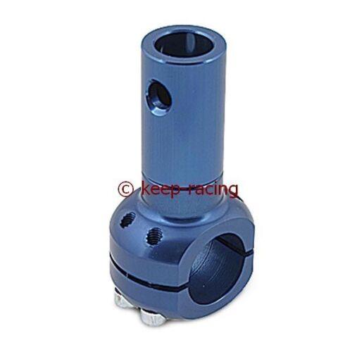 Halterung für Sitz oder Auspuff für 32mm Rohrrahmen blau eloxiert