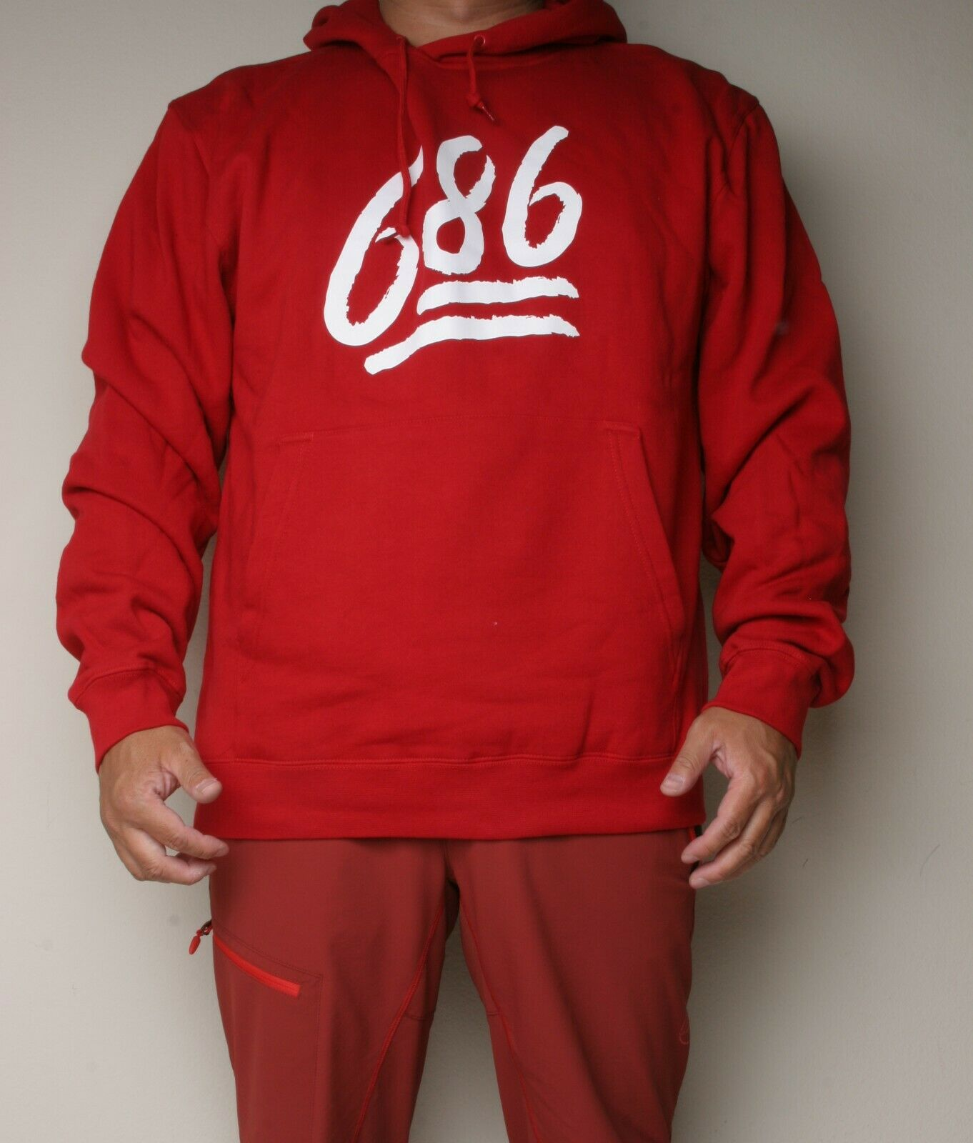686 Emoji Pullover Hoody (XL) RED L7WPHS01-RED