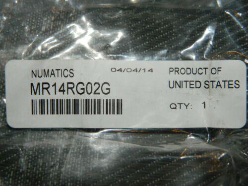 Made in USA NEW Numatics MR14RG02G Air Pressure Regulator with Gauge 0-125 PSI