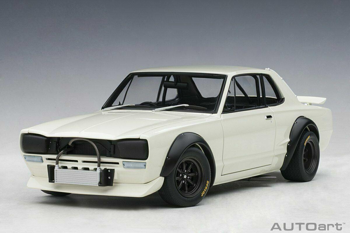 1  18 Autoart  87279 Nissan skylinie GT-R KPGC - 10 blanc nouveau OVP  à vendre