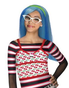 Brainy-Monster-High-Super-Star-Ghoulia-Yelps-Frosted-Blue-Girl-Polyester-Wig