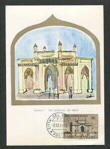 VATICAN MK 1964 BOMBAY GATEWAY OF INDIA MAXIMUMKARTE MAXIMUM CARD MC CM d7609