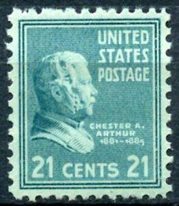 Scott # 826-One 21 cent C. A. Arthur syamp-très fine-inutilisées-ORIGINAL GUM-Jamais à Charnière-mintt