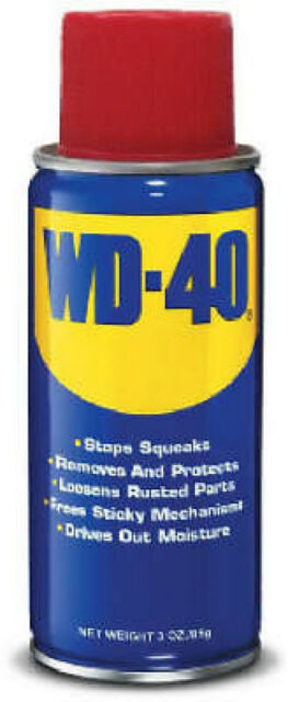 WD-40 Spray Lubricant Aerosol Can Remove Crayon Sticker Rust - 3 oz 079567490005