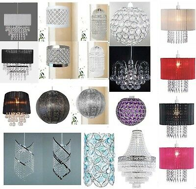 Realistisch Chandelier Style Ceiling Pendant Light Shade Acrylic Crystal Droplet Bead Beads Crazy Prijs