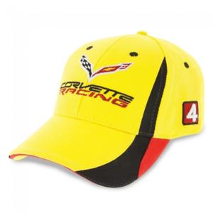 Corvette-Gorra-de-Carreras-Amarillo-Negro-Rojo