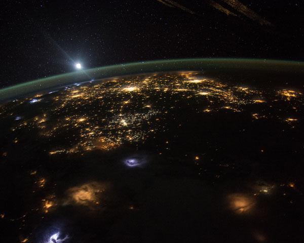 EARTH SEEN FROM NASA DSCOVR ONE MILLION MILES AWAY 8x10 PHOTO 2015