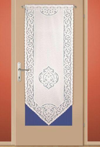 Weiße Türgardine Balkontür Wohnungstür Gardine Türpanneau 160 x 60 cm Neu