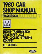 1980 Ford Car Engine Tranny Manual Mustang T Bird LTD Pinto Fairmont Granada