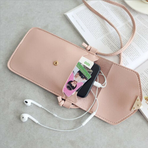 Touch Cell Phone Purse Smartphone Wallet Leather Shoulder Strap Handbag Chic