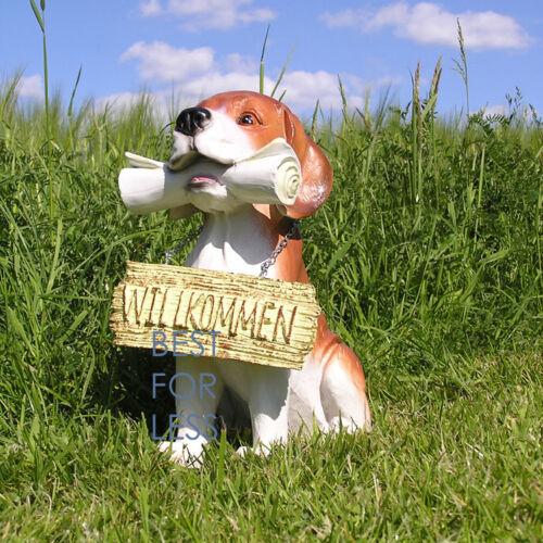 Hund Hausdackel Figur Dekofigur Aufstellfigur Fan Club Türschild Willkommen Deko