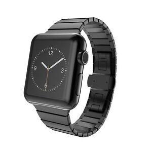 Black Stainless Steel Link Bracelet Strap Band For Apple Watch Series 5 4 44mm Ebay