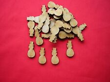 3cm / 30mm MDF MINI SNOWMAN  x 40 LASER CUT MDF WOODEN SHAPE